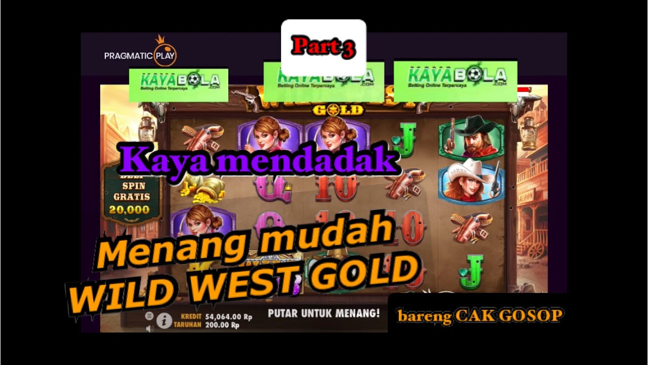 Tips Main Game slot WILD WEST GOLD bareng GOSOP